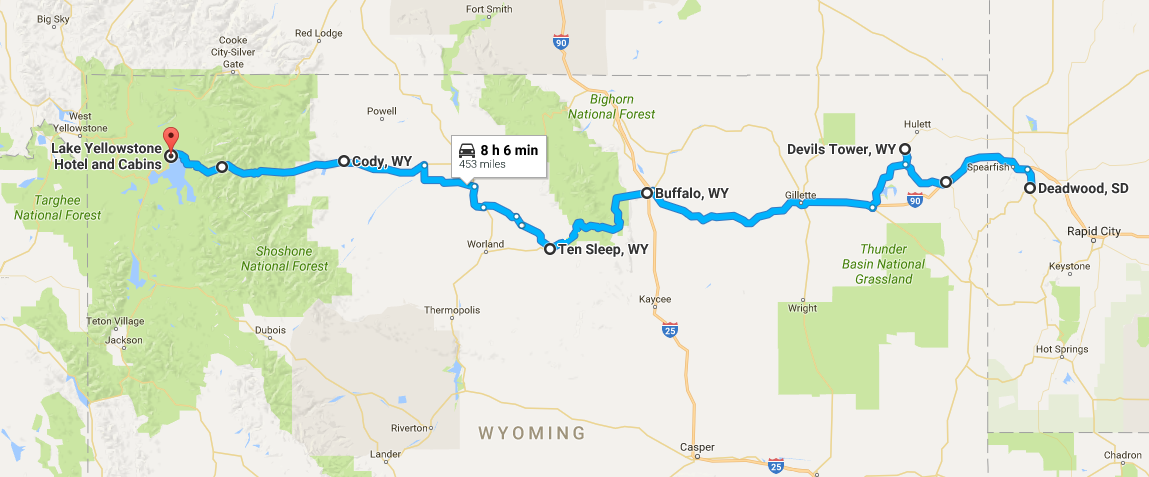 Map from SD to WY - Adventure Music Life Devils Tower Map on
